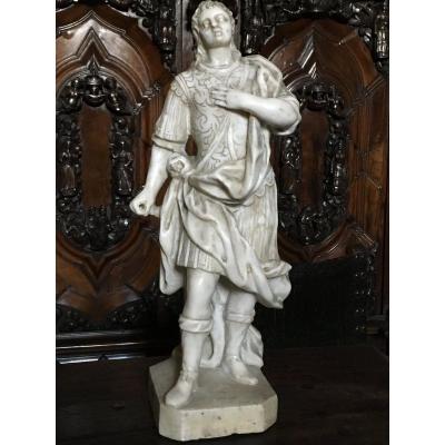 Un Très Belle Sculpture En Marbre Blanc Vers 1700