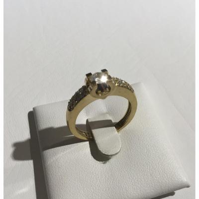 Bague, or et diamants