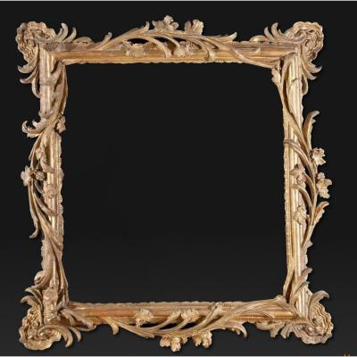 18th Century Carved And Gilded Wooden Frame