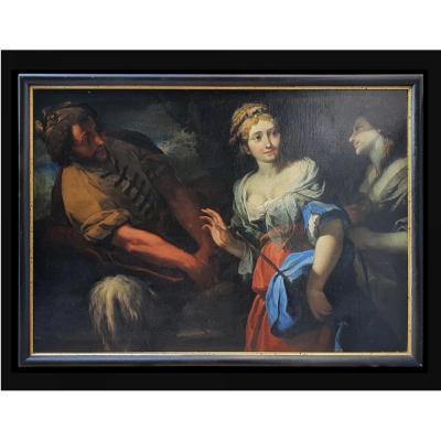 17th Religious Painting By Pietro Della Vecchia