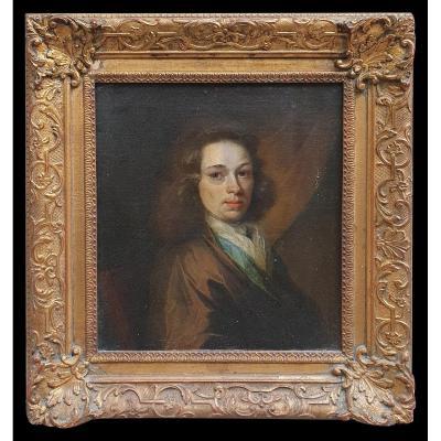 Maes Nicolaes, Tableau Ancien d'école Hollandaise, Portrait De Jeune Homme