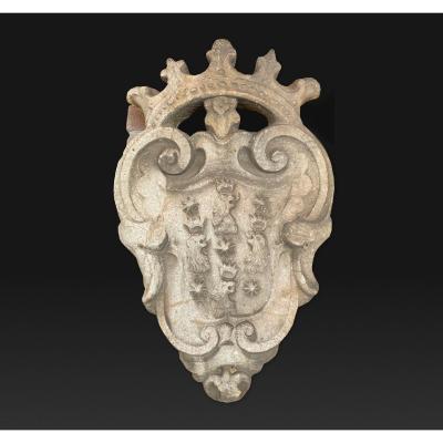 Blason Italien en pierre du 16ème siècle
