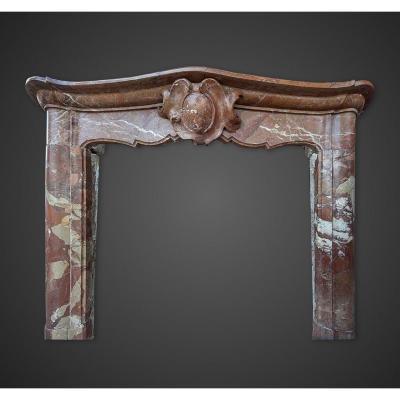 Cheminée  Italienne d'époque Louis XIV en marbre