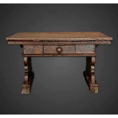 Rare maquette du 16ème siècle table bureau noyer