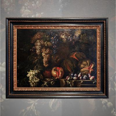 Filippo Lauri tableau ancien nature morte  17ème siècle avec expertise