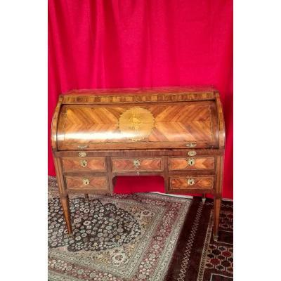 Bureau à Cylindre En Marqueterie époque XIX ème