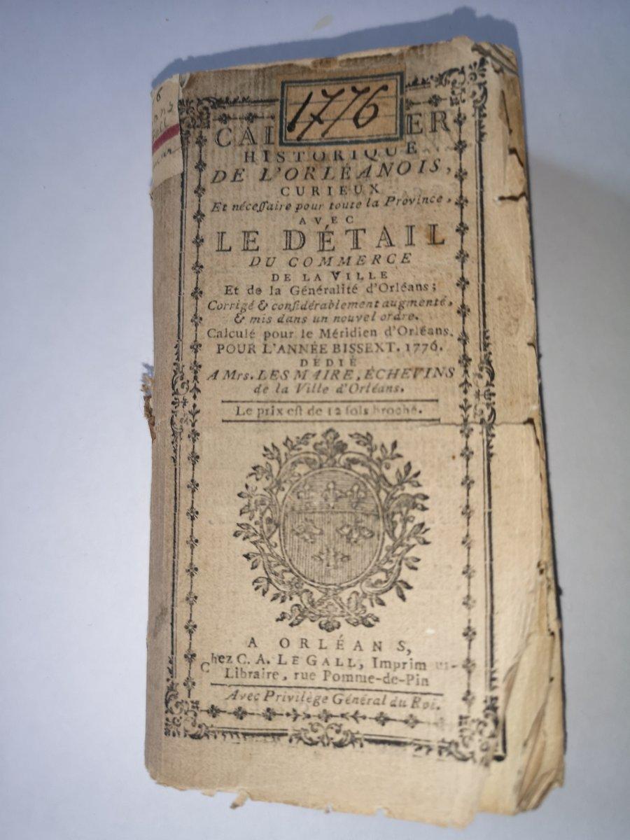 Almanach 1776 Orléans
