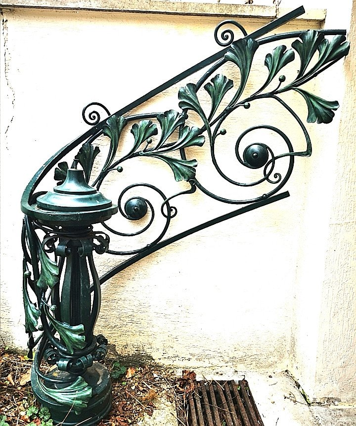 Art Nouveau Stair Railing Stamped