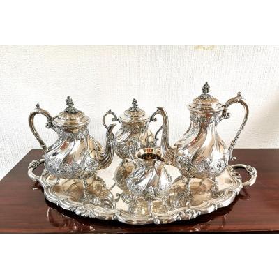 Tea Coffee Service In Silver Metal