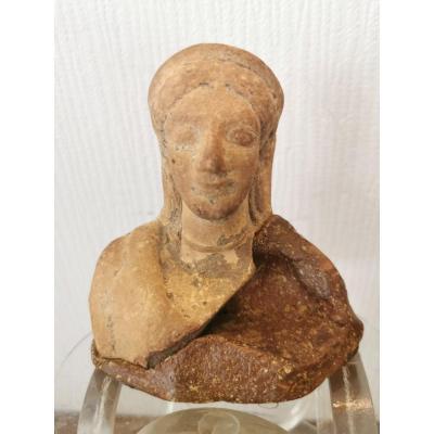 Buste Terre Cuite, Phocéenne, Antiquité