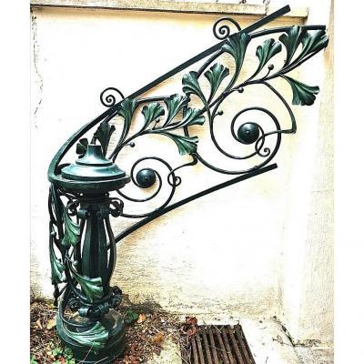 Rampe d'Escalier époque Art Nouveau Estampillée