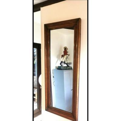 Large Louis Philippe Walnut Mirror 19th
