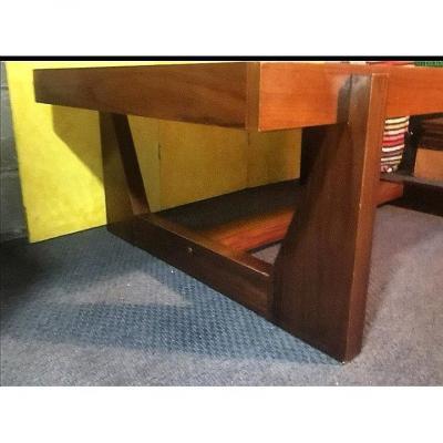 Table Basse Scandinave Design Palissandre Faïence