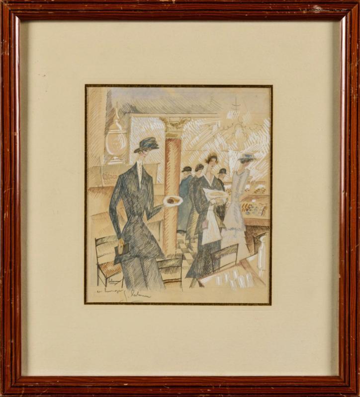 «Le Salon de Thé» - Jean Émile Laboureur (1877-1943)-photo-3