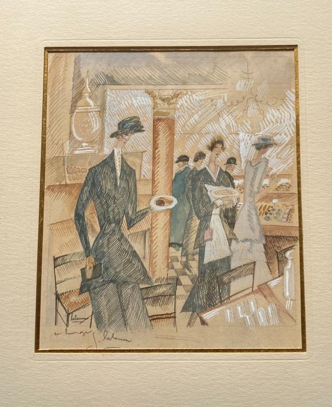 «Le Salon de Thé» - Jean Émile Laboureur (1877-1943)-photo-4