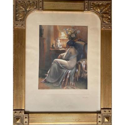 Très belle estampe - Delphin Enjolras (1857-1945)