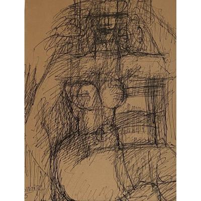 Superb Original Drawing - Marcel Gromaire (1892-1971)