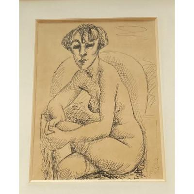 Original Ink Drawing 1926 - Marcel Gromaire (1892-1971)