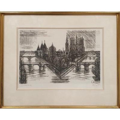 «Paris, La Cité, 1952» - Marcel Gromaire (1892-1971)
