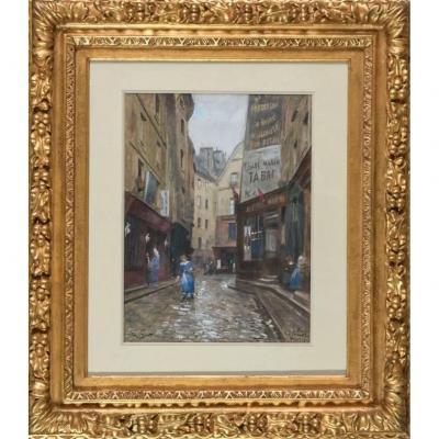 «Rue des Pirouettes, Quartier Les Halles, Paris» - Victor Gilbert (1847-1933)