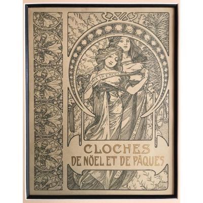 Très Belle Affiche Lithographiée - Alfons Mucha (1860-1939)