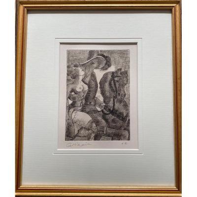 Très belle eau-forte signée - Marcel Gromaire (1892-1971)