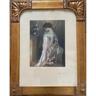 Très Belle Estampe - Attribuée à Delphin Enjolras (1865-1945)