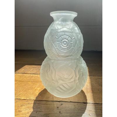 Vase «Coloquinte» style Art Deco - Muller Frères Lunéville