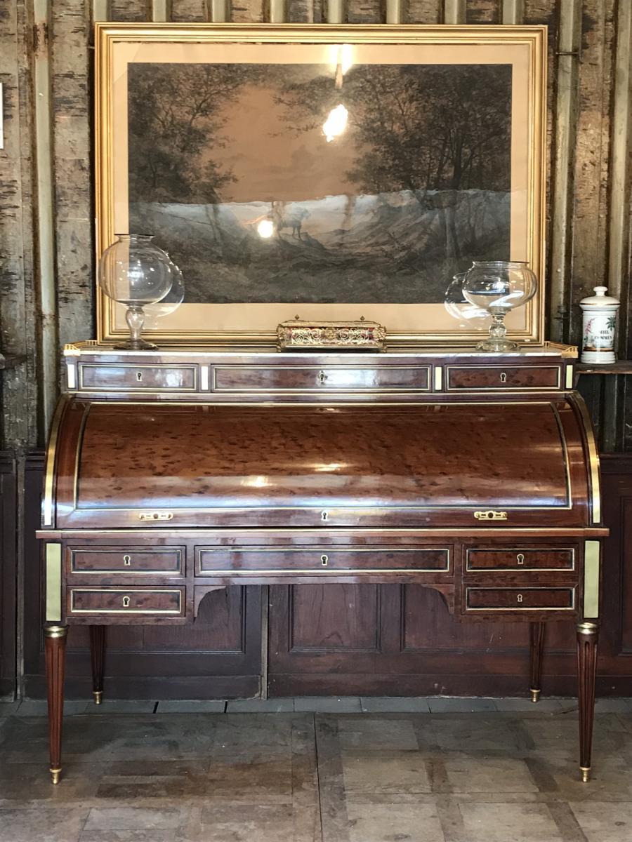 Grand Bureau à Cylindre Louis XVI