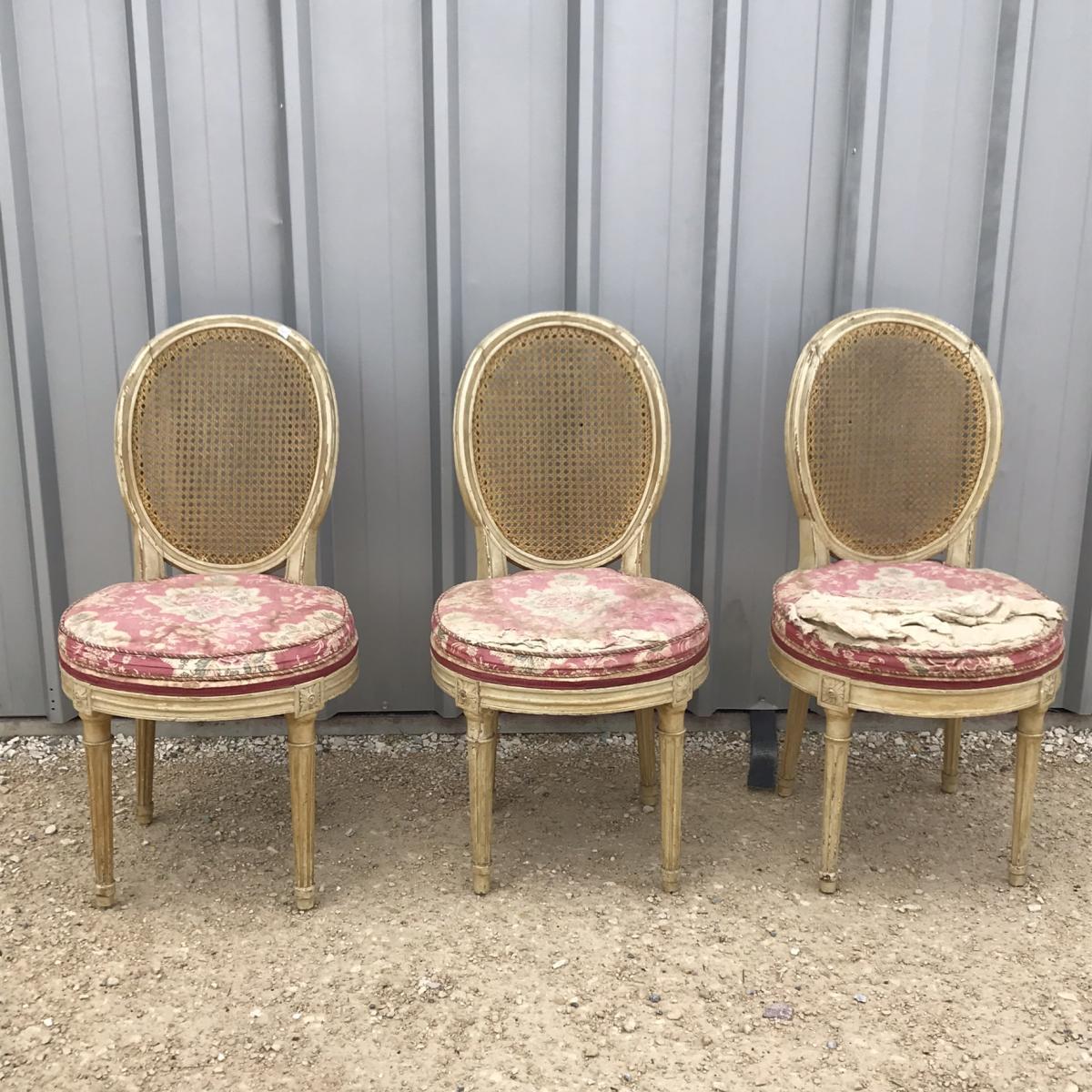 Série De 3 Chaises Louis XVI