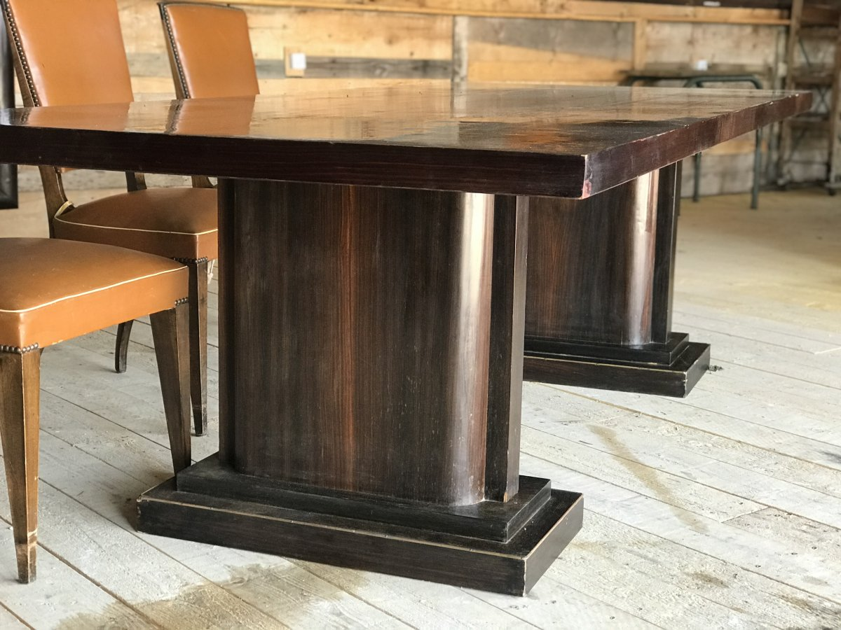 Very Important Art Deco Dining Room Set-photo-4