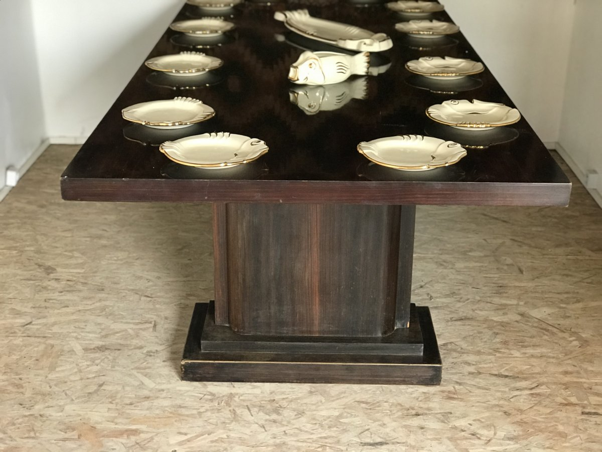Very Important Art Deco Dining Room Set-photo-5