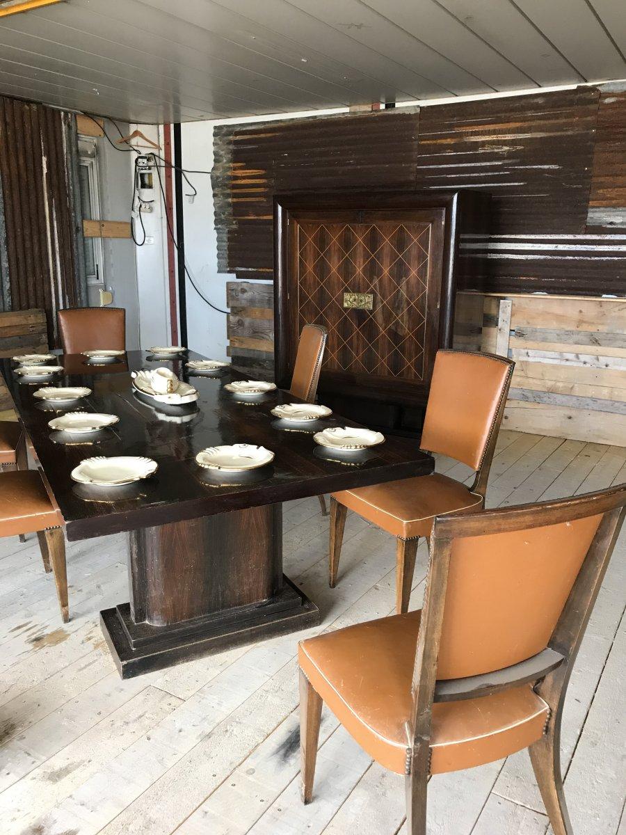 Very Important Art Deco Dining Room Set-photo-8