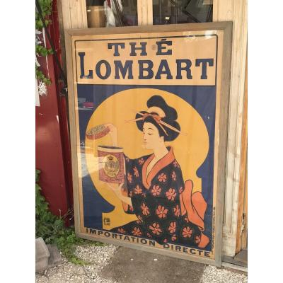 Large Poster 1901 -thé Lombart