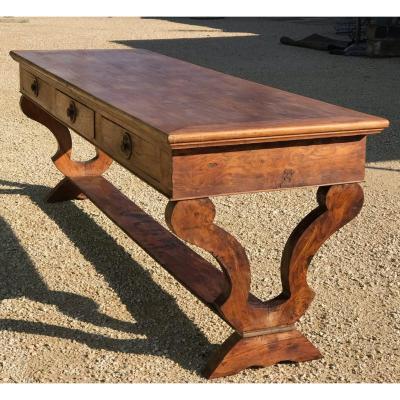 Très Grande Table De Soyeux époque Restauration