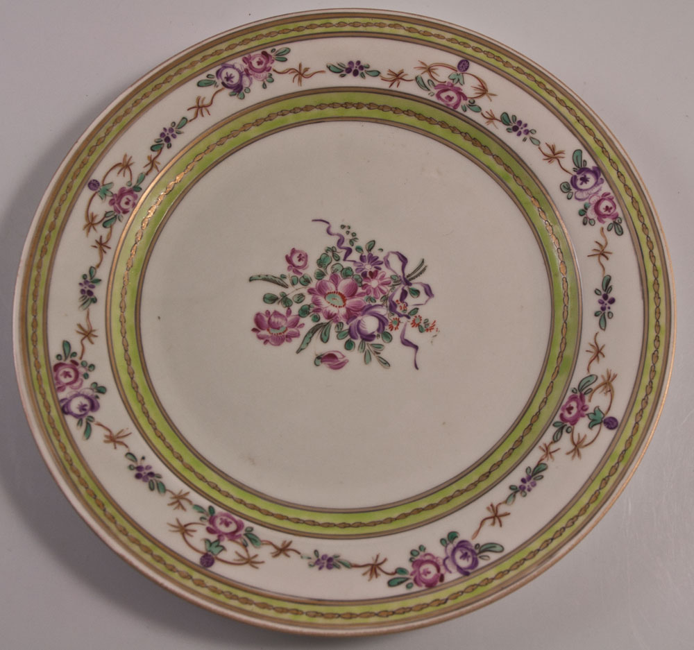 Porcelain Plate From China India Company