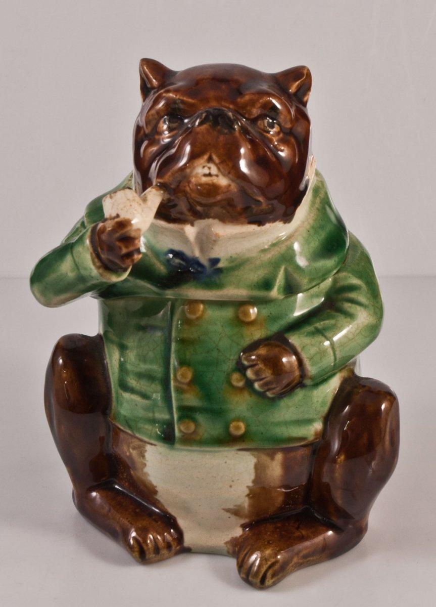 Pot à Tabac En Céramique Bulldog