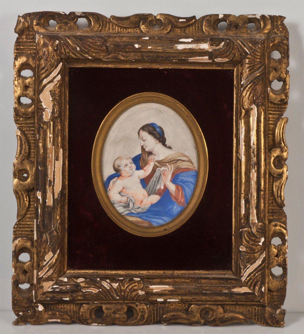 Miniature  Portrait Maternité XVIIIème / XVIIeme