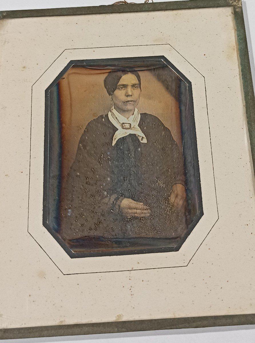 Daguerréotype Femme Au Foulard-photo-3
