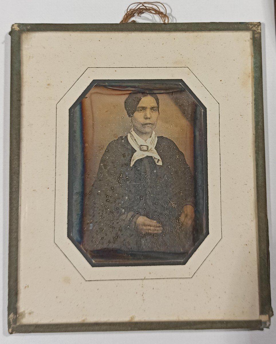Daguerréotype Femme Au Foulard