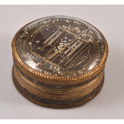 Boite Papier Et Verre Décor Perles XVIIIème