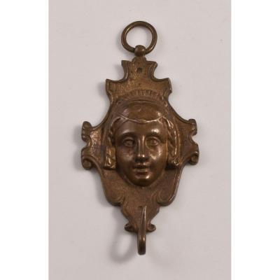 Porte Miniature En Bronze XIXème