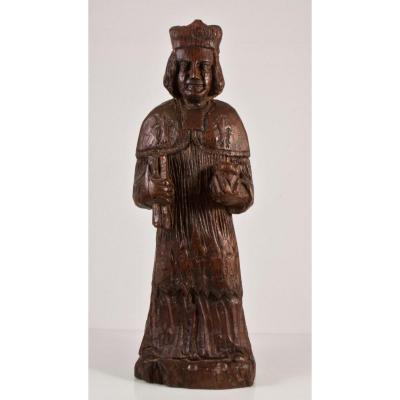 Saint Yves Carved Wood Statue