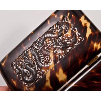 Case Cigarette Box Or Cards China Dragon Decor