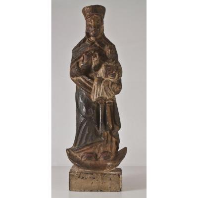 Statue En Bois Sculpté Saint Yves