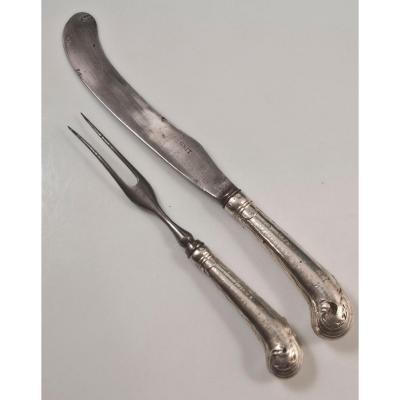 Couteau + Fourchette XVIIIème