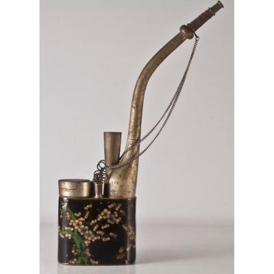 Pipe à eau / Opium émail Cloisonné Asiatique