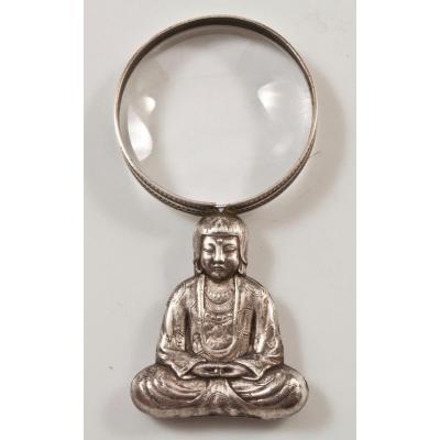 Loupe En Forme De Bouddha Bronze