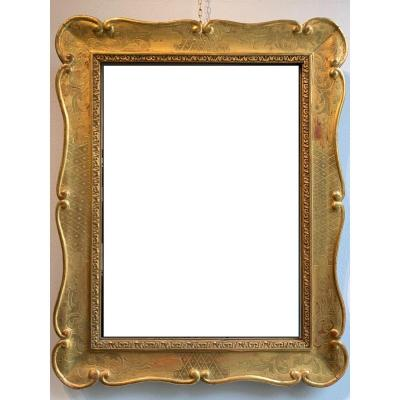 Venetian Mirror Gilded With Gold Leaf