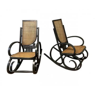 Paire De Rocking Chair